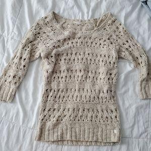 Garage Crochet Knit Sweater